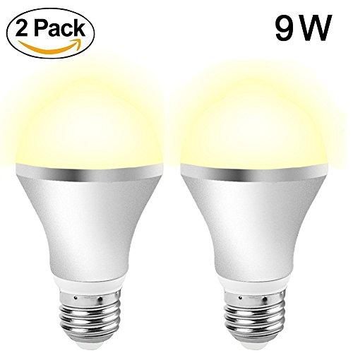 Aukora 9W Motion Sensor Light Bulbs