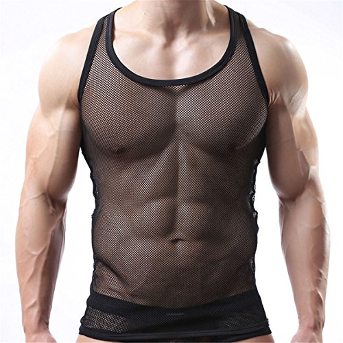 Ud Accessories Mens 100  Cotton Fitted Muscle Fishnet