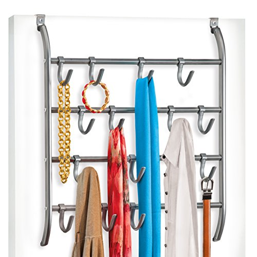 Decobros Supreme Over The Door 11 Hook Organizer Rack